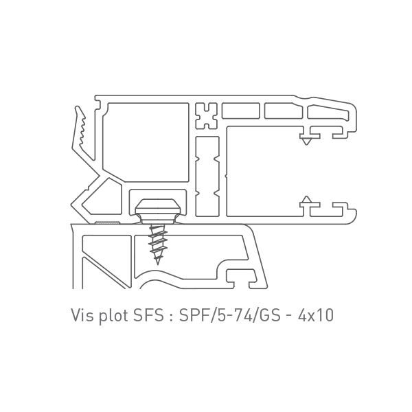 Vis plot SFS : SPF/5-74/GS - 4x10