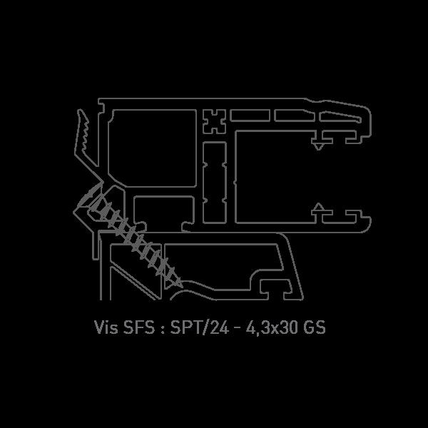 Vis SFS : SPT/24 - 4,3x30 GS