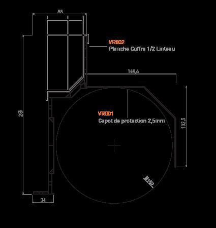 planches du coffre demi-linteau GVR.dL