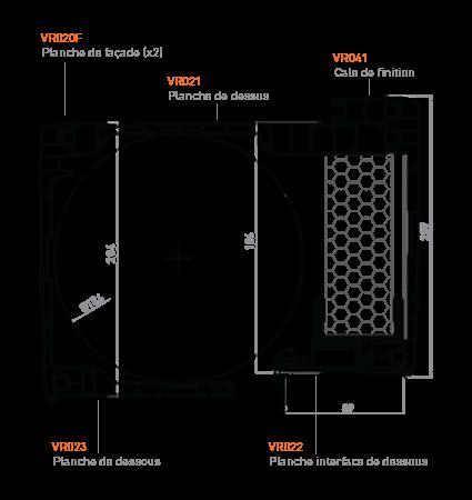 planches du coffre à enroulement extérieur GVR.e 205