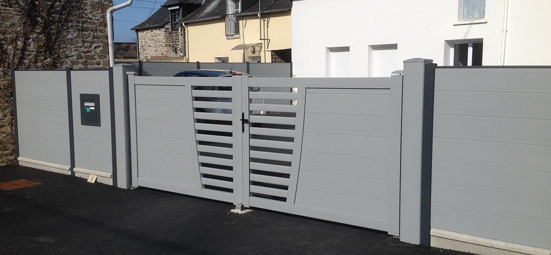 Portail et clôture SISTÄ en PVC