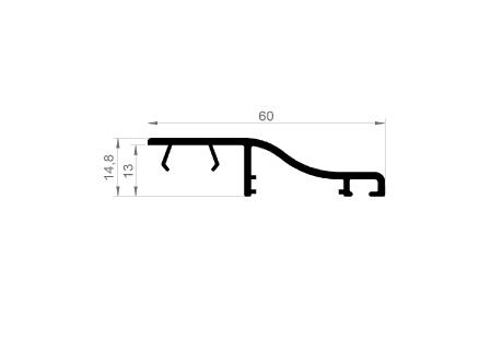 AB021 Moulure d'habillage pour aile de 13 mm