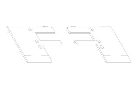 AC007 Plaquettes d'étanchéité pour VR008 et VR018, VR009 et VR019