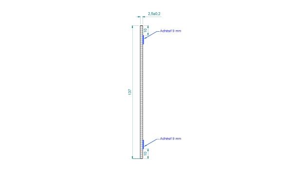 AC028B Module isolant acoustique PVC souple ép.2,5mm avec adhésifs