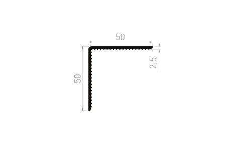 CE2535C Cornière 50x50x2,5 Crantée