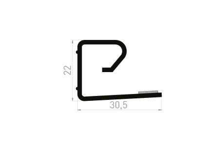 DI001/A Cale de protection 30,5x22 + adhésif 6mm (en option) - à clipper