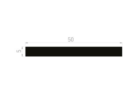 DI018/A Plat 50x5 + adhésif 19 mm (option)