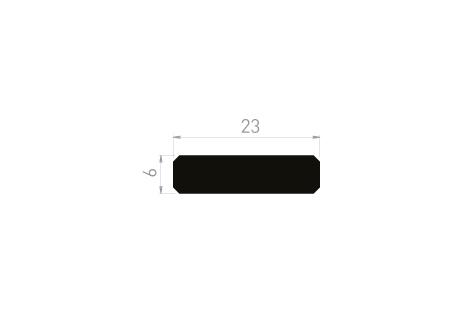DI019/A Plat 23x6 + adhésif 9 mm (option)