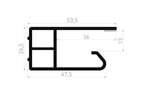 DI027A Cale de protection 54x26 + adhésif 6 mm - à clipper