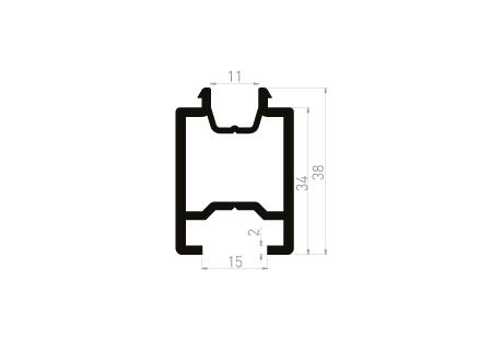 DI031 Cale de transport de gorge 15 mm - à clipper