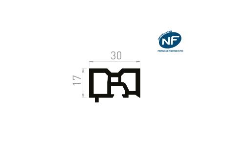 ME050 Fourrure tapée 17 mm