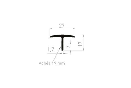 ME066A Couvre-joint 27x17 + adhésif 9 mm