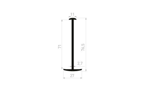 ME068 Profil de liaison de 71 mm