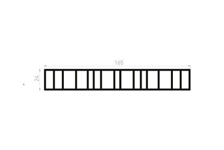 ME080 Tapée persienne 165x24