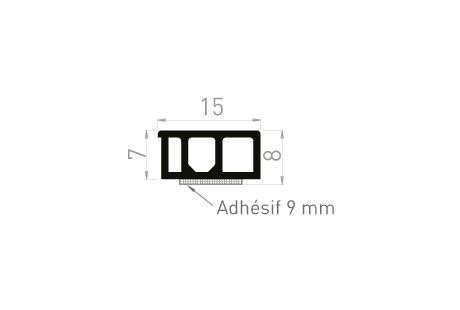 ME086A Cale de compensation 8x15 + adhésif 19mm