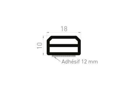 ME088A Cale de compensation 10x18 + adhésif 12 mm