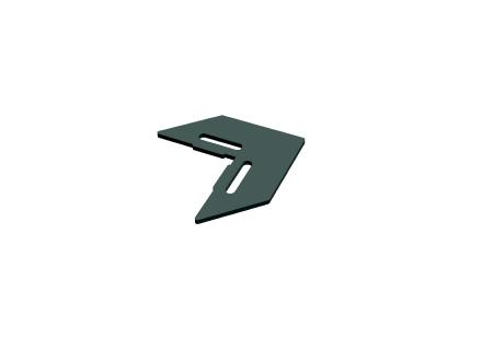 PIM001 Équerre d'angle noire