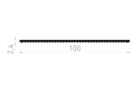 PL2415C Plat 100x2,4 Cranté