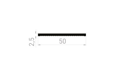 PL2535D Plat 50x2,5 Dentelé