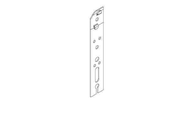 RF009_GALVA Patte de fixation à clipper 170mm
