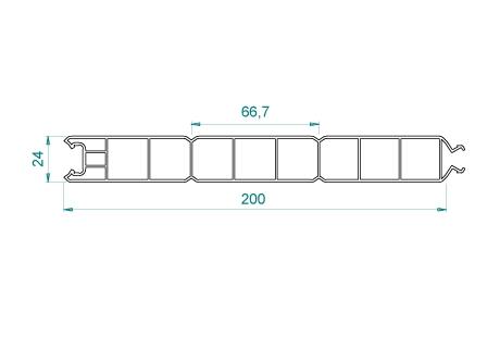 VB005 Panneau 200x24 pas de 66,7
