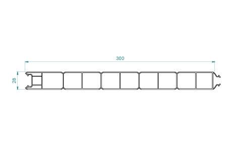 VB006 Panneau 300x28 pas de 60