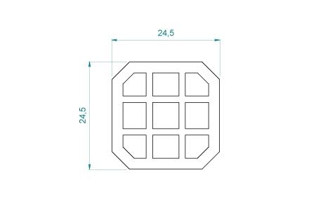 VB010 Renfort de vissage  24,5x24,5