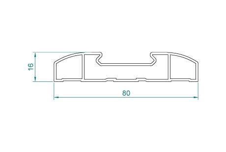 VB015 Echarpe de volet 80x16