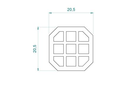 VB016 Renfort de vissage 20,5x20,5