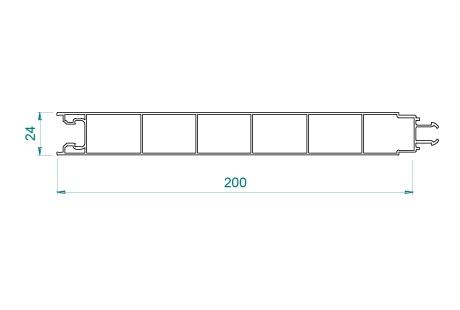 VB017 Panneau 200x24 pas de 200