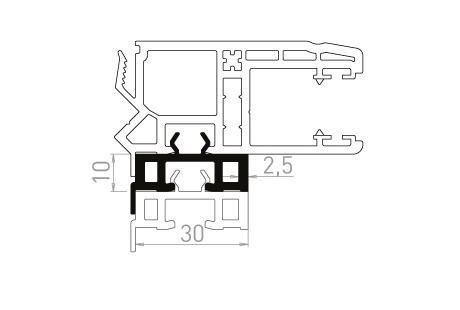 VR009 Réhausseur de 10 mm