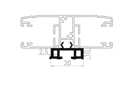 VR019 Réhausseur déligné de 10mm
