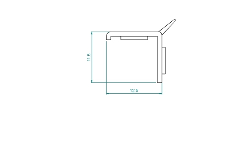VR039A(B) Profil de finition + adhésif 6mm