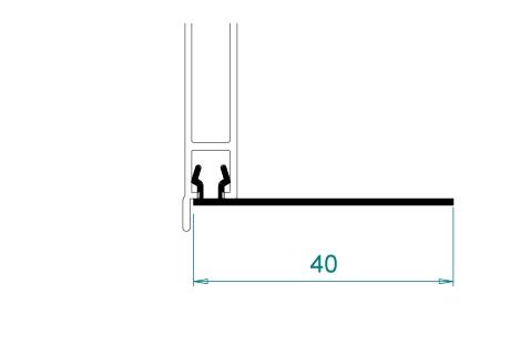 VR051(A) Profil à clipper sur façade extérieur