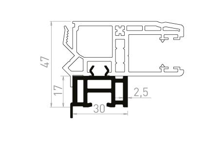 VR065 Réhausseur de 17mm