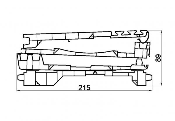 VRKI2C Kit 205mm 4 planches : VR020F + VR024F + VR026 + VR054
