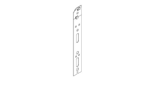 RF010_GALVA Patte de fixation à clipper 220mm