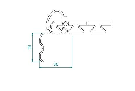 RF015_BRUT/LQ Interface 30mm pour coffre sous-face VR054